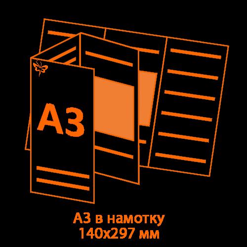 буклет А3 в намотку большой