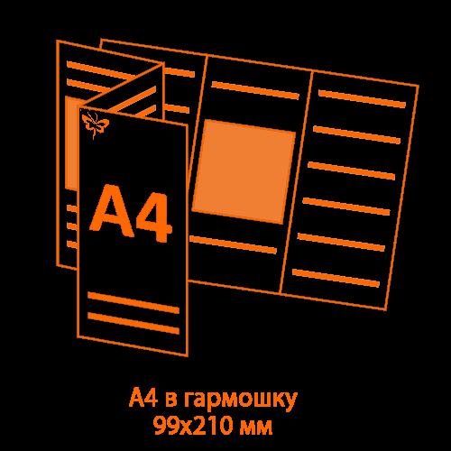 буклет А4 в гармошку