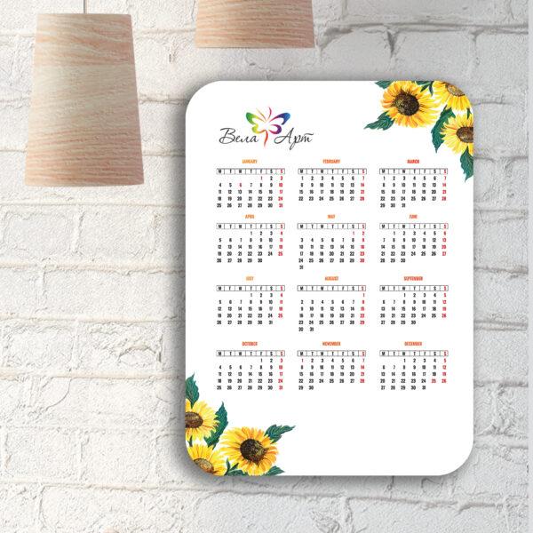 Календарик со скруглением углов
