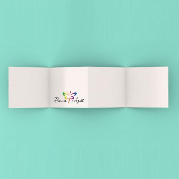 Буклеты с тремя фальцами